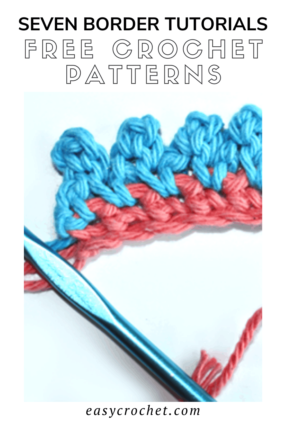 Use these seven crochet blanket borders to create the perfect finishing touch for your next crochet afghan or blanket pattern! via @easycrochetcom