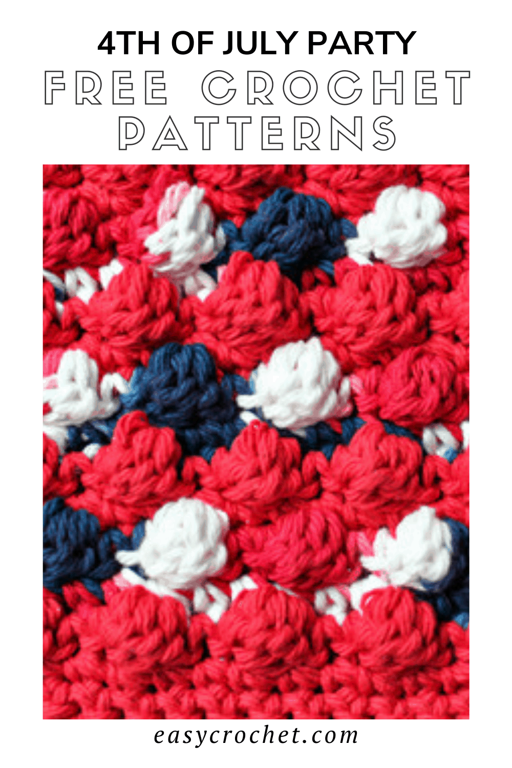 Fourth of July Party Free Crochet Patterns rounded up by easycrochet.com. Find table runners, stars, hot pads and more to add to your patriotic party. via @easycrochetcom