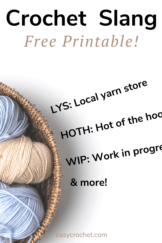 Crochet Slang on Blogs & Social Media via @easycrochetcom