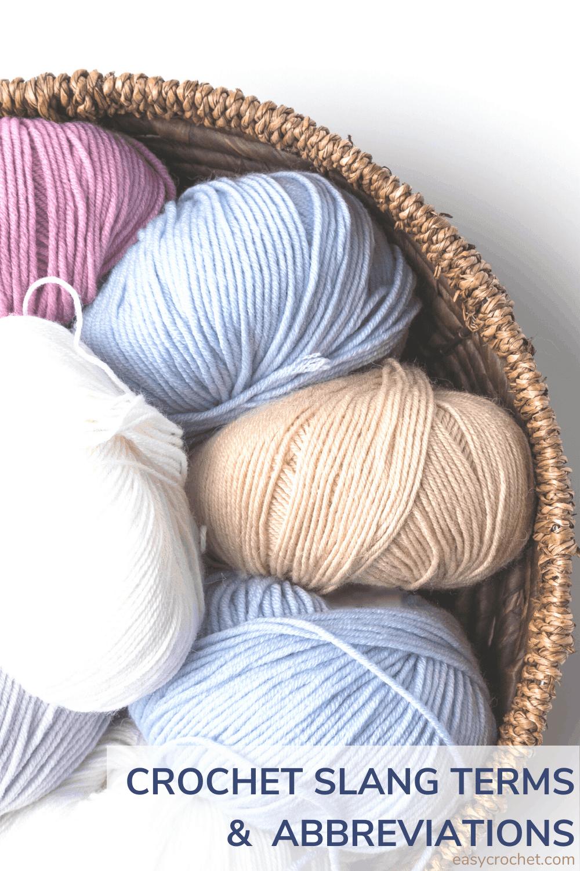 Crochet Slang Abbreviation List