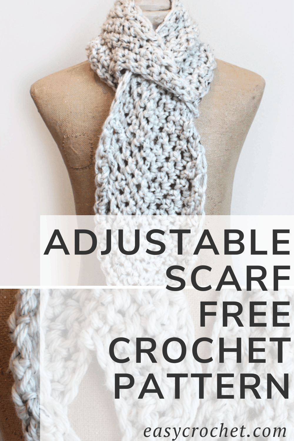 Adjustable crochet scarf pattern