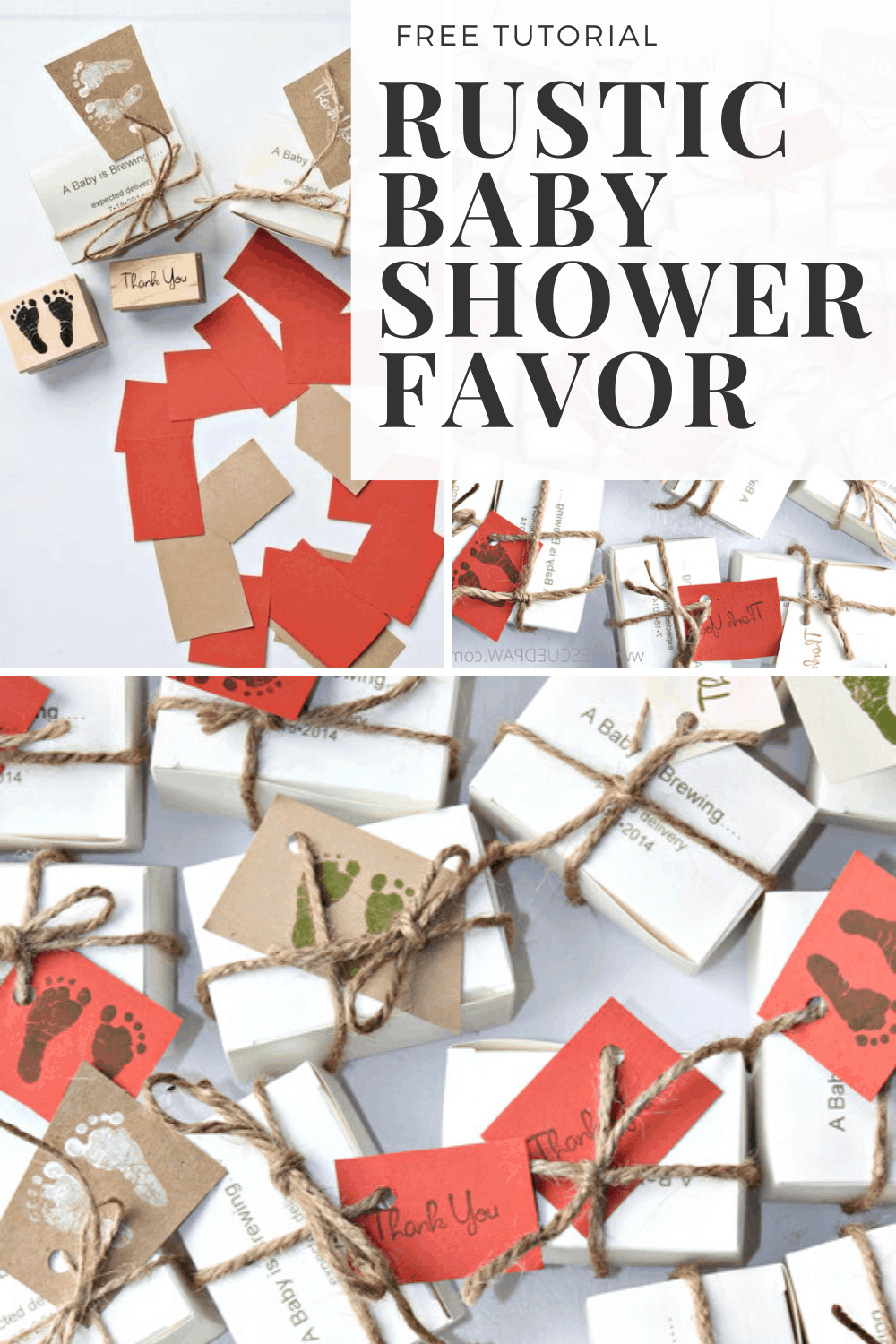 Rustic Baby Shower Favor Tutorial