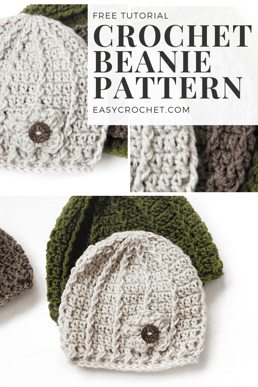 Easy Beanie Crochet Pattern