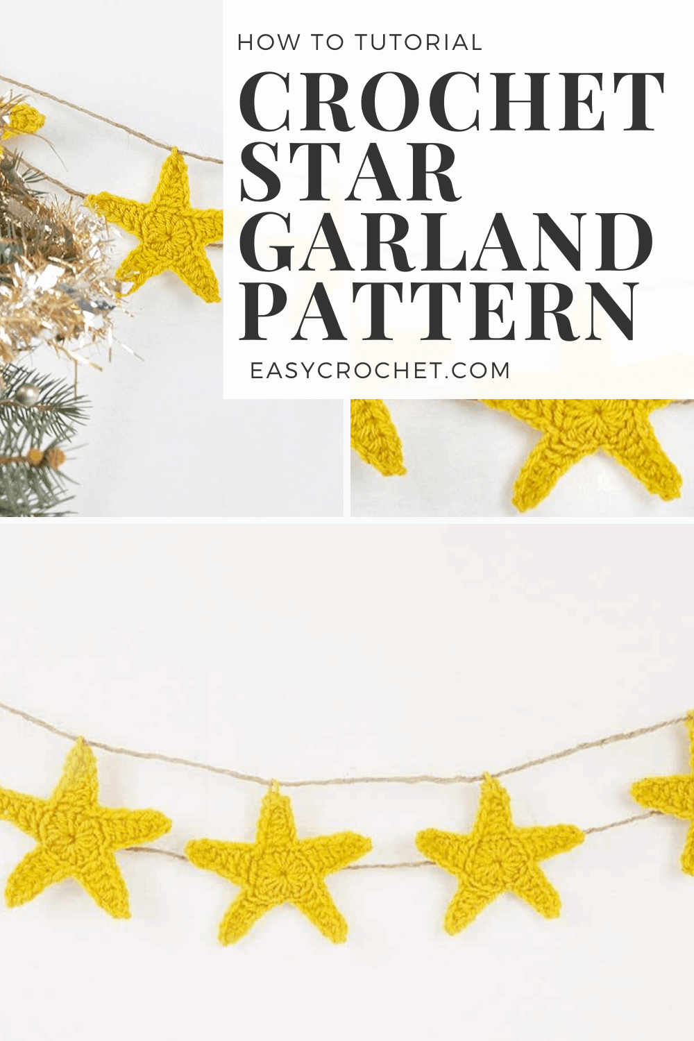 Easy & Free Crochet Garland Star Pattern
