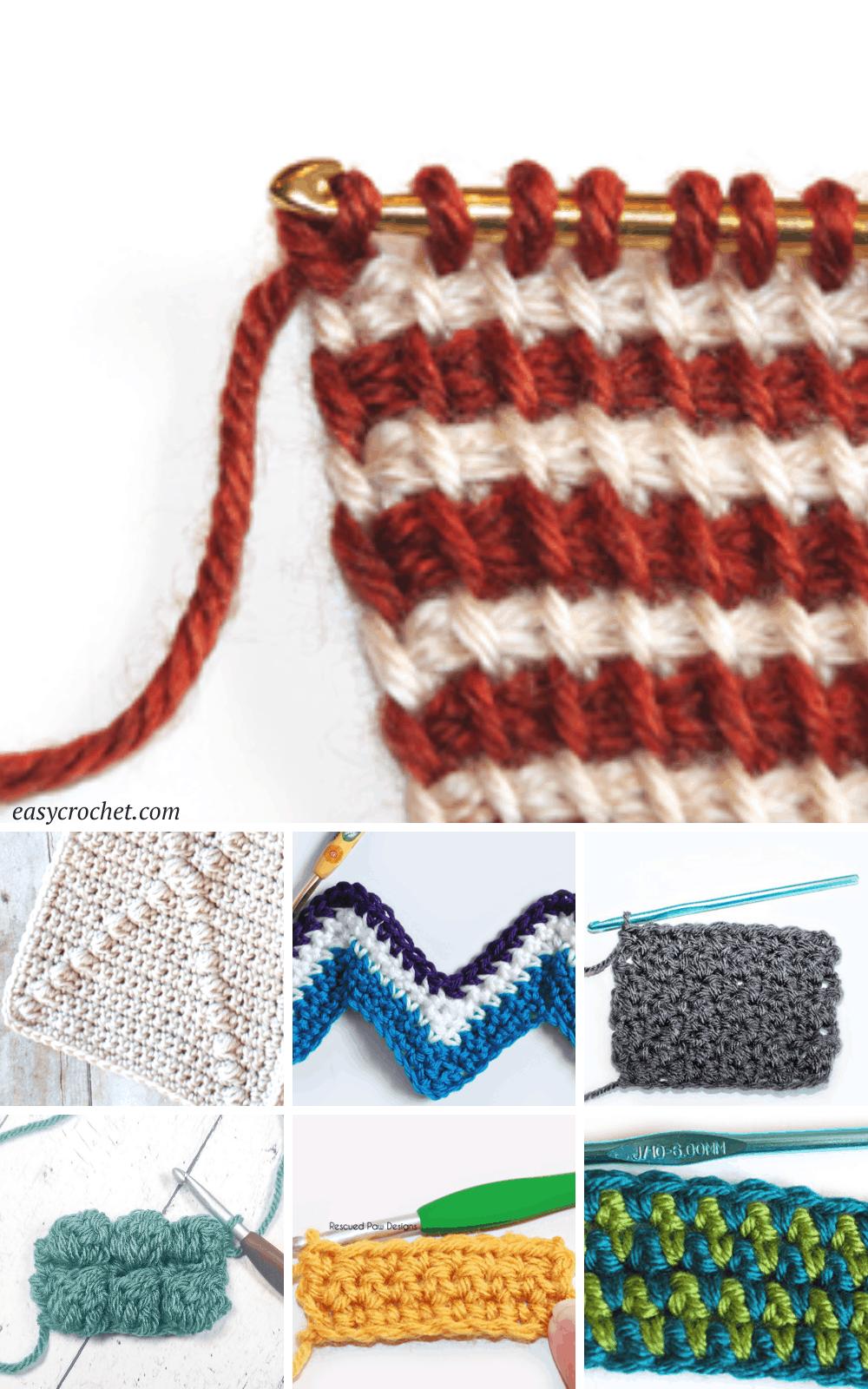 unique crochet stitches for scarves