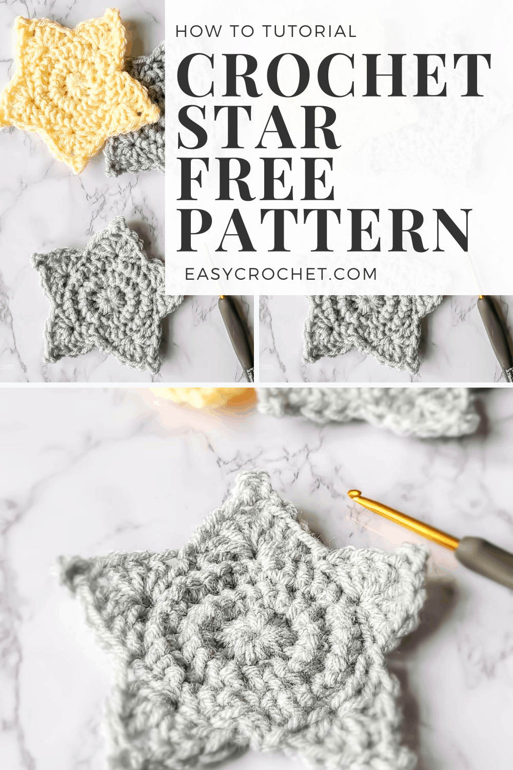 How to crochet a star free pattern