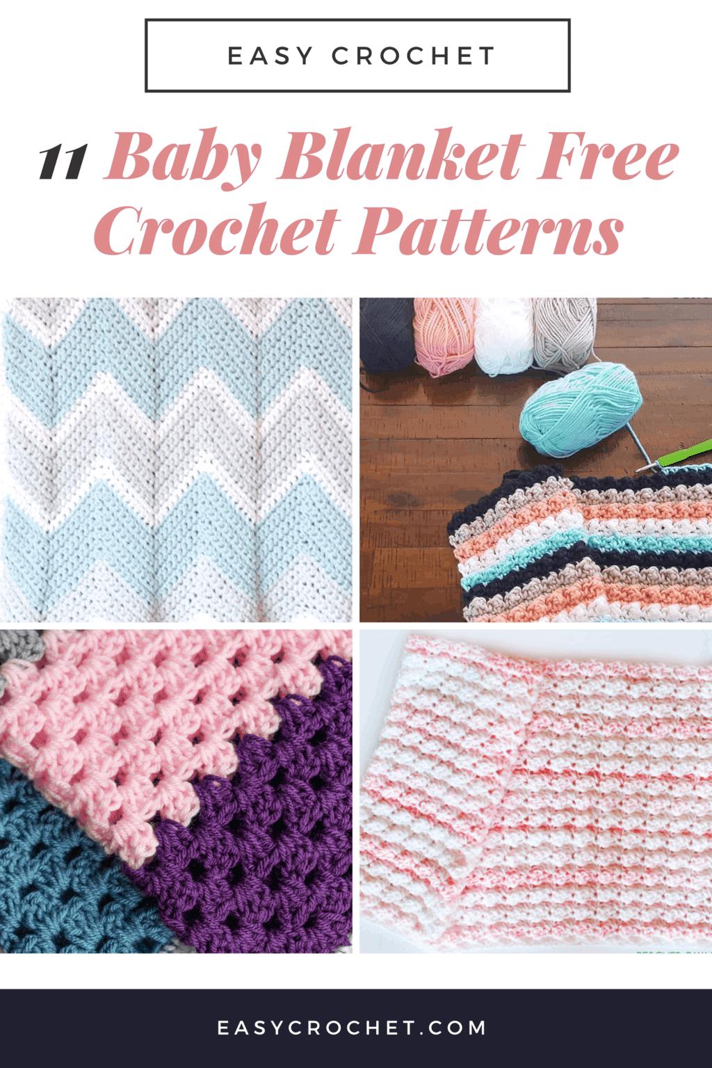 Easy to Crochet Baby Blanket Free Crochet Patterns