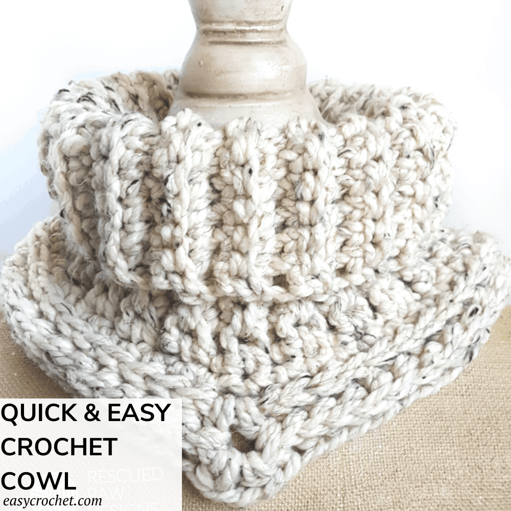 Quick & Easy Crochet Cowl Pattern