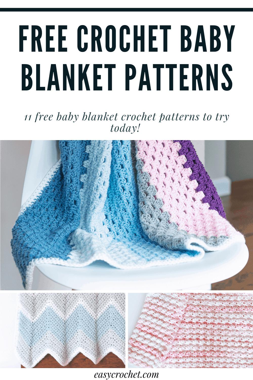 11 Free Crochet Baby Blanket Patterns via @easycrochetcom