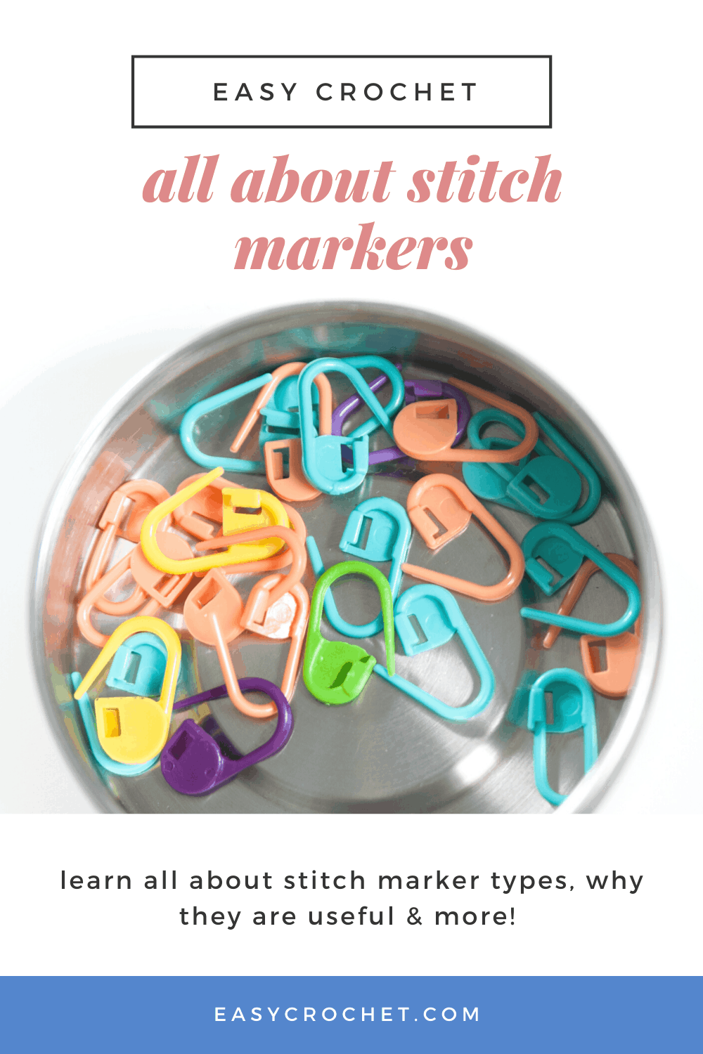 Learn about crochet stitch markers, why they are useful and how to use them! Free guide from Easy Crochet! via @easycrochetcom