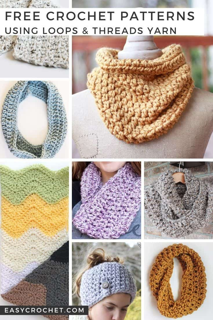 Free Crochet Patterns using Loops & Threads Yarn all by Easy Crochet. via @easycrochetcom