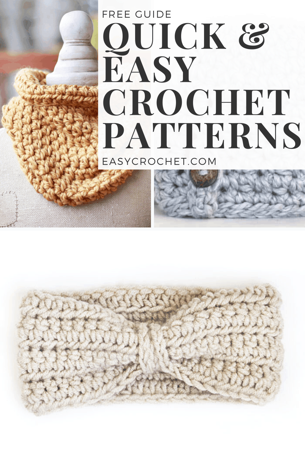 Quick and Easy Crochet Patterns that work up in 2 hours or less