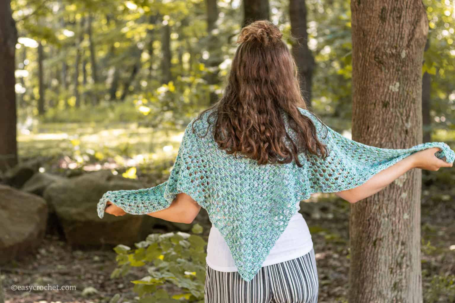 crochet summer shawl free pattern
