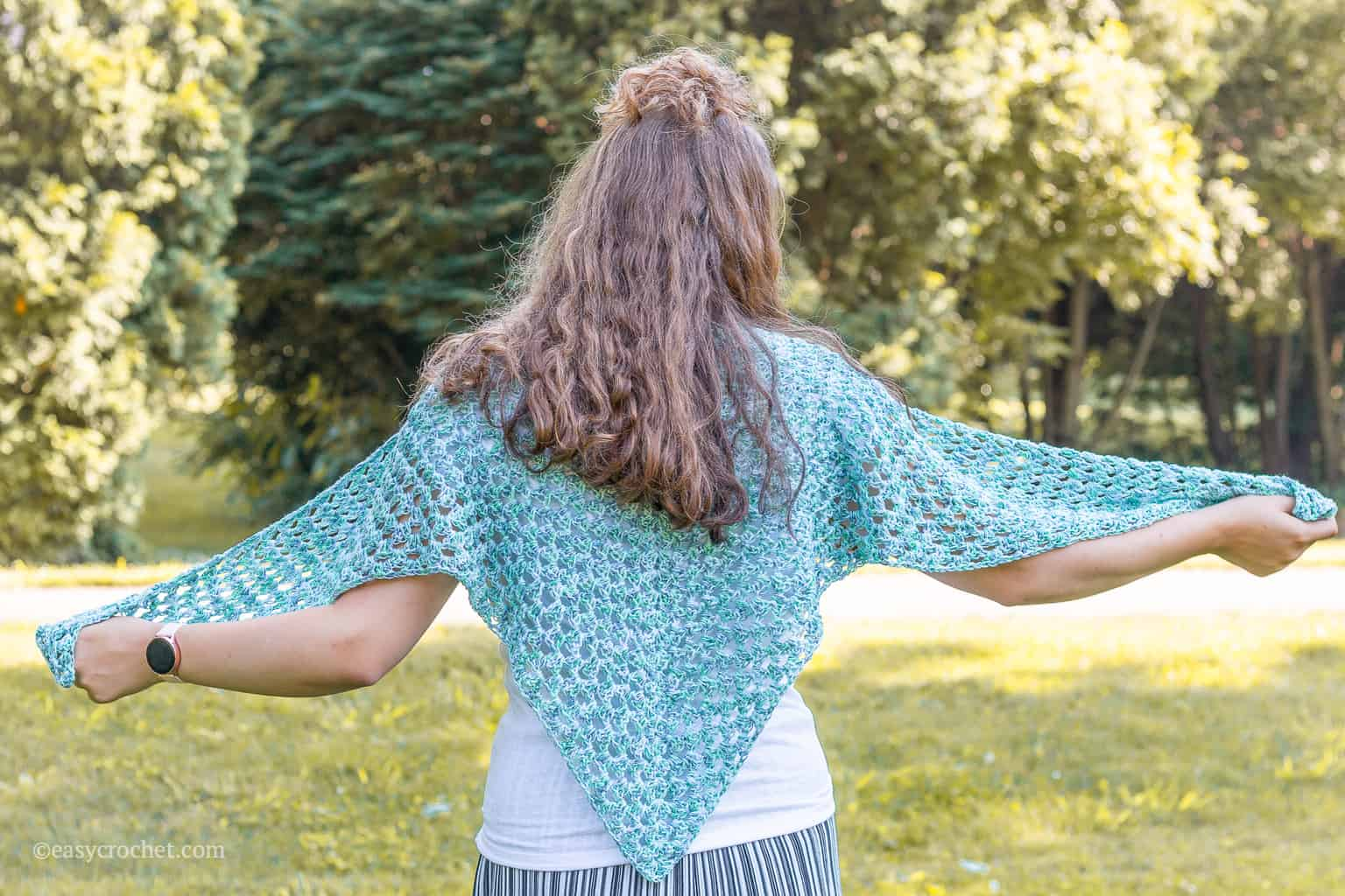 Free Crochet Shawl Pattern for Summer