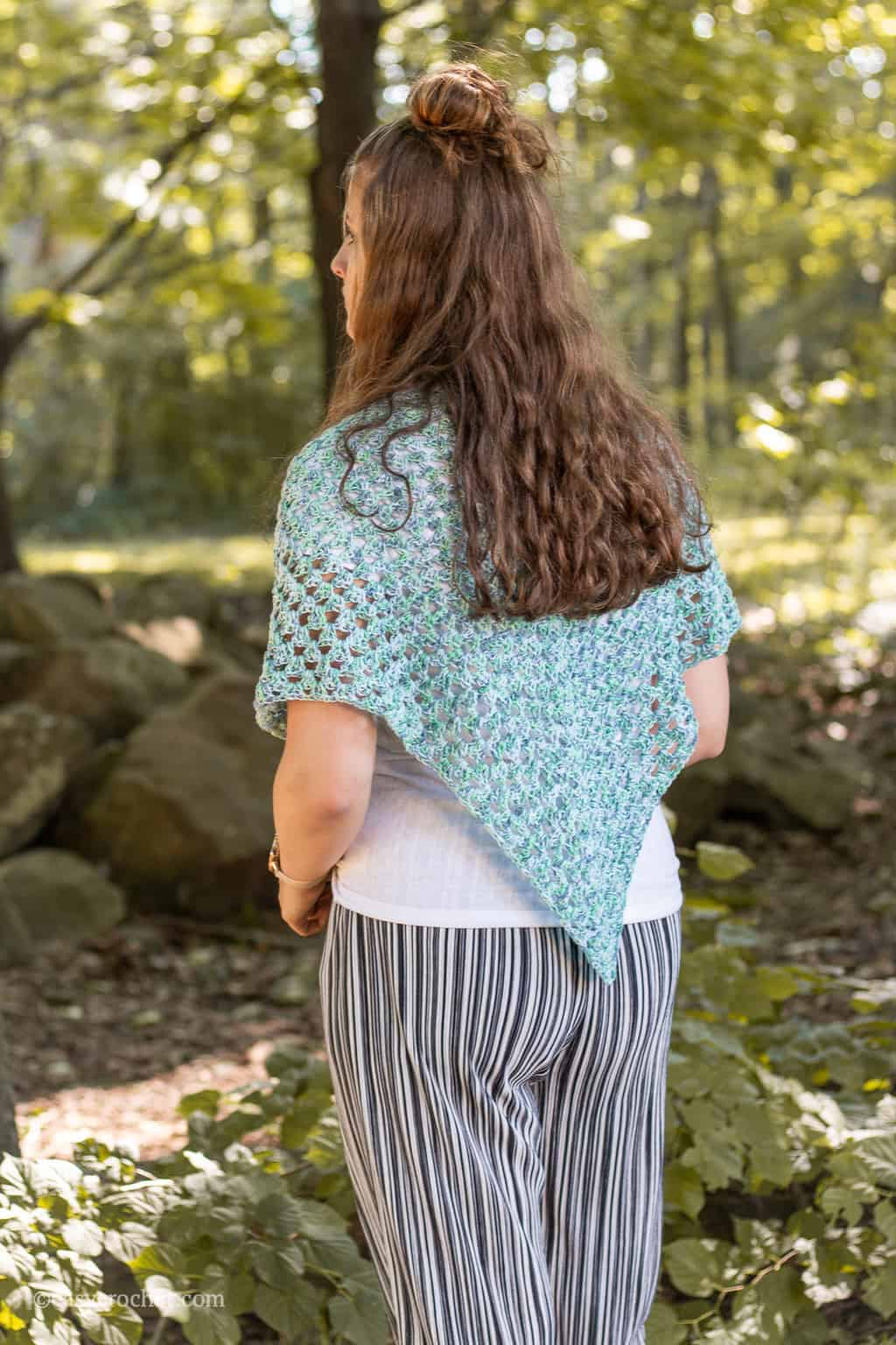 Crochet Shawl Pattern using superfine yarn