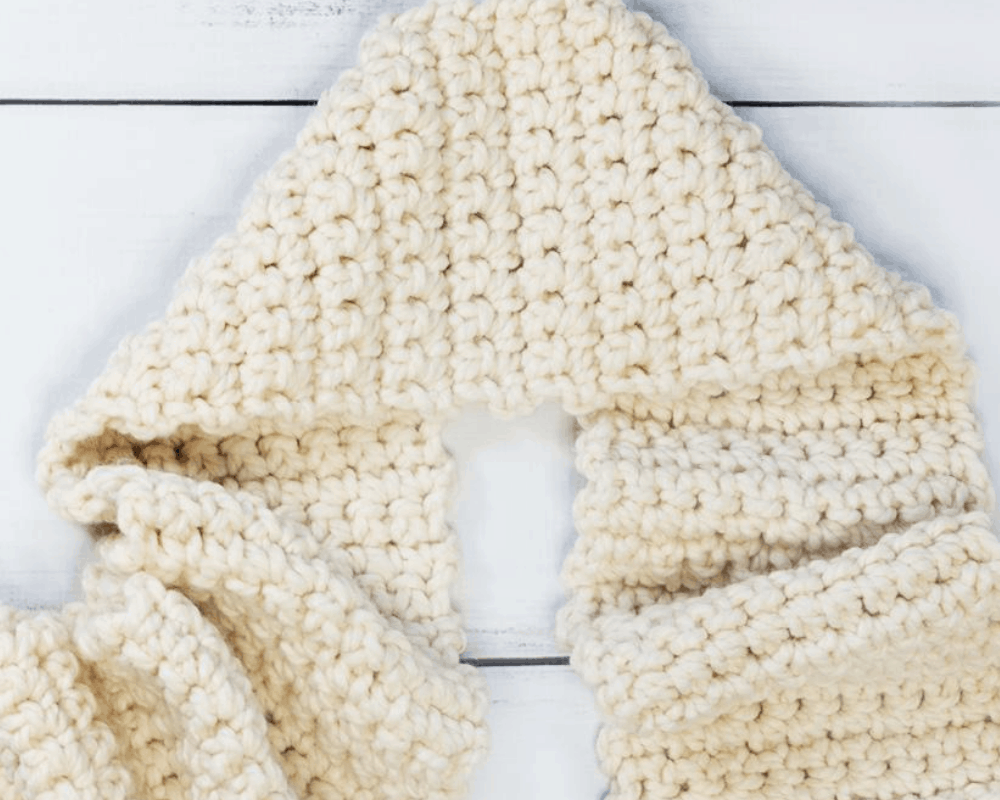 single crochet stitch scarf