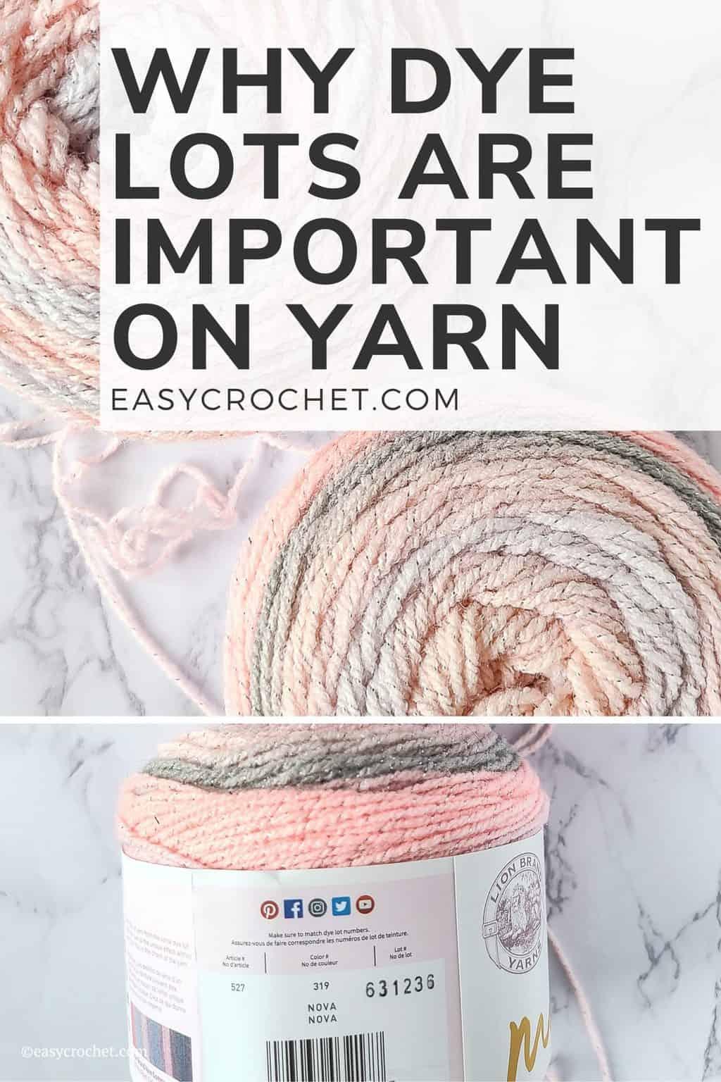 Dye Lot Yarn Explanation