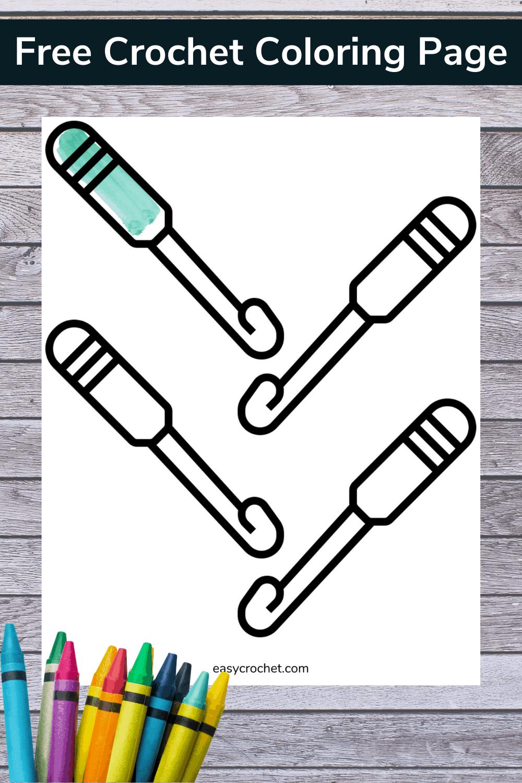 Crochet Coloring Page via @easycrochetcom