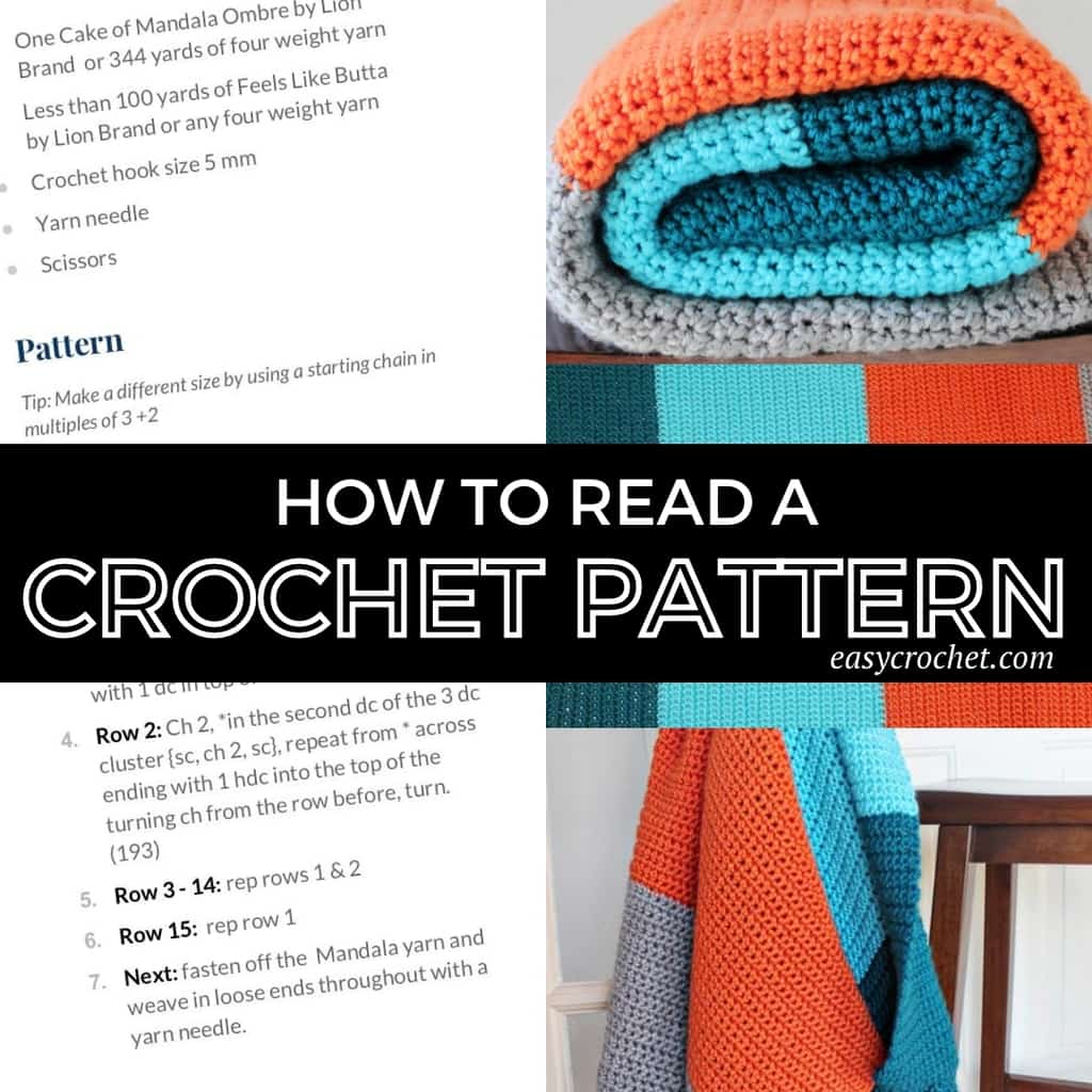 How to read crochet patterns tutorial