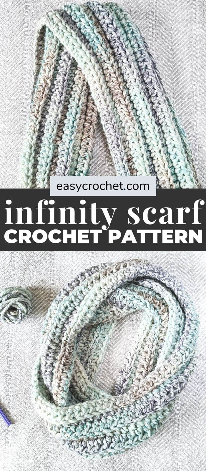 hdc infinity scarf via @easycrochetcom