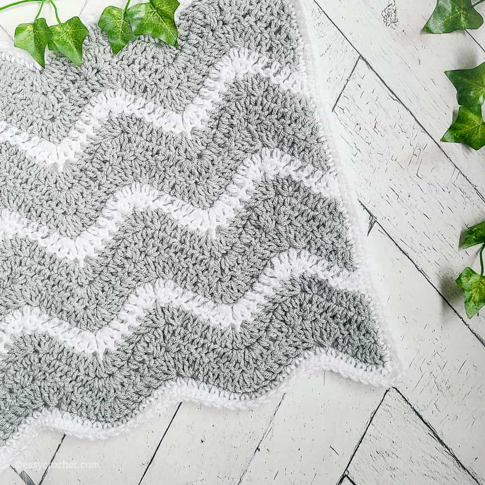 chevron crochet lovey blanket