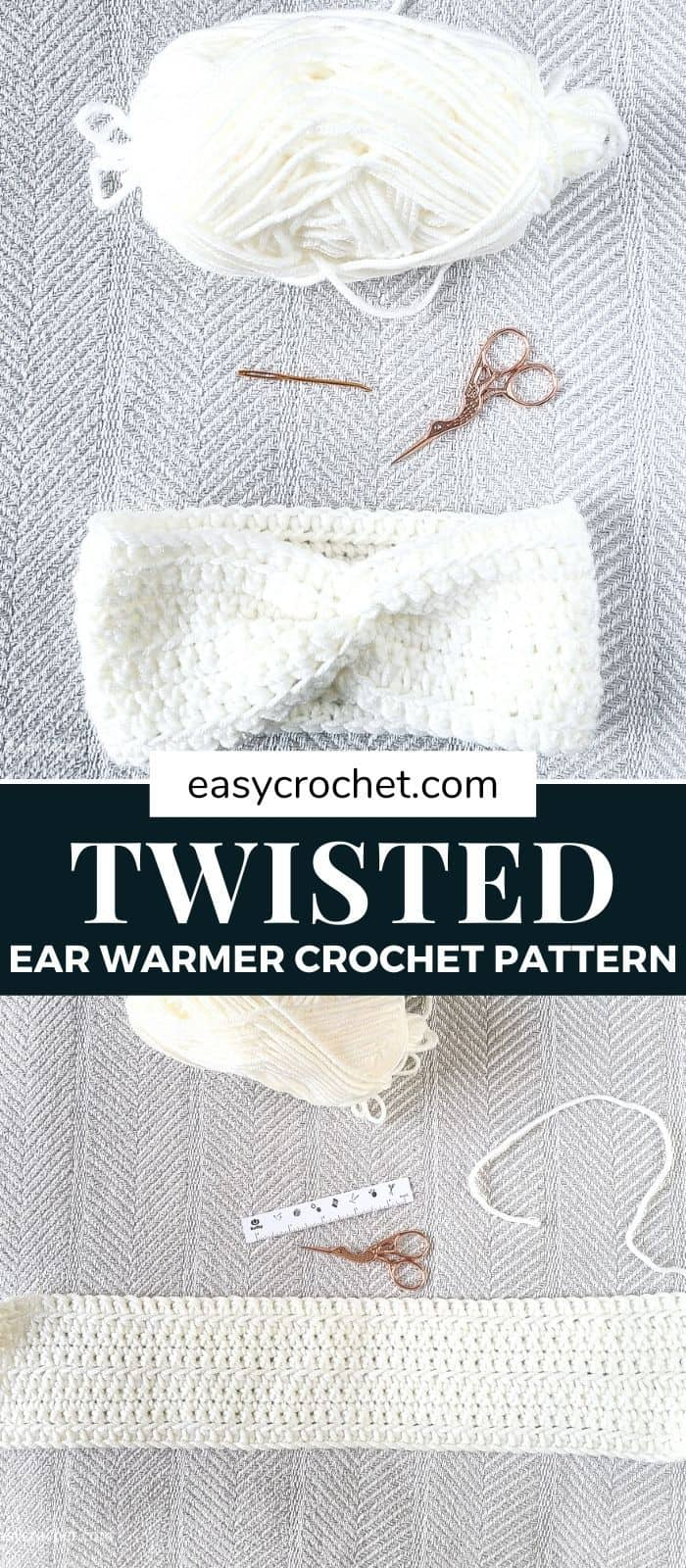 Twist Headband Ear Warmer via @easycrochetcom