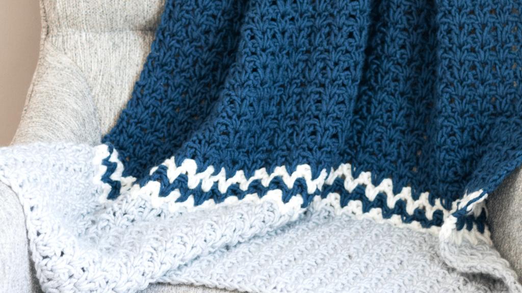 Easy V Stitch Crochet Blanket Pattern