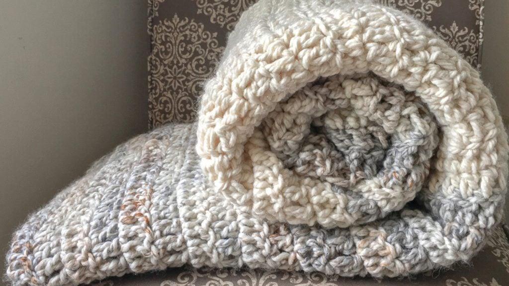 Crochet Blanket Pattern Using The Double Crochet Easycrochet Com