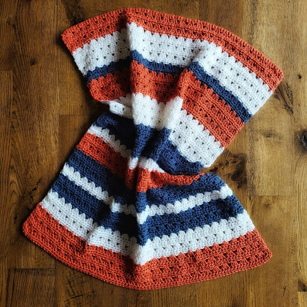 Riley baby blanket crochet pattern from easy crochet