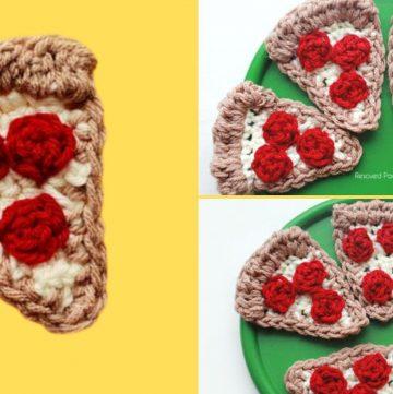 free crochet pizza slice pattern