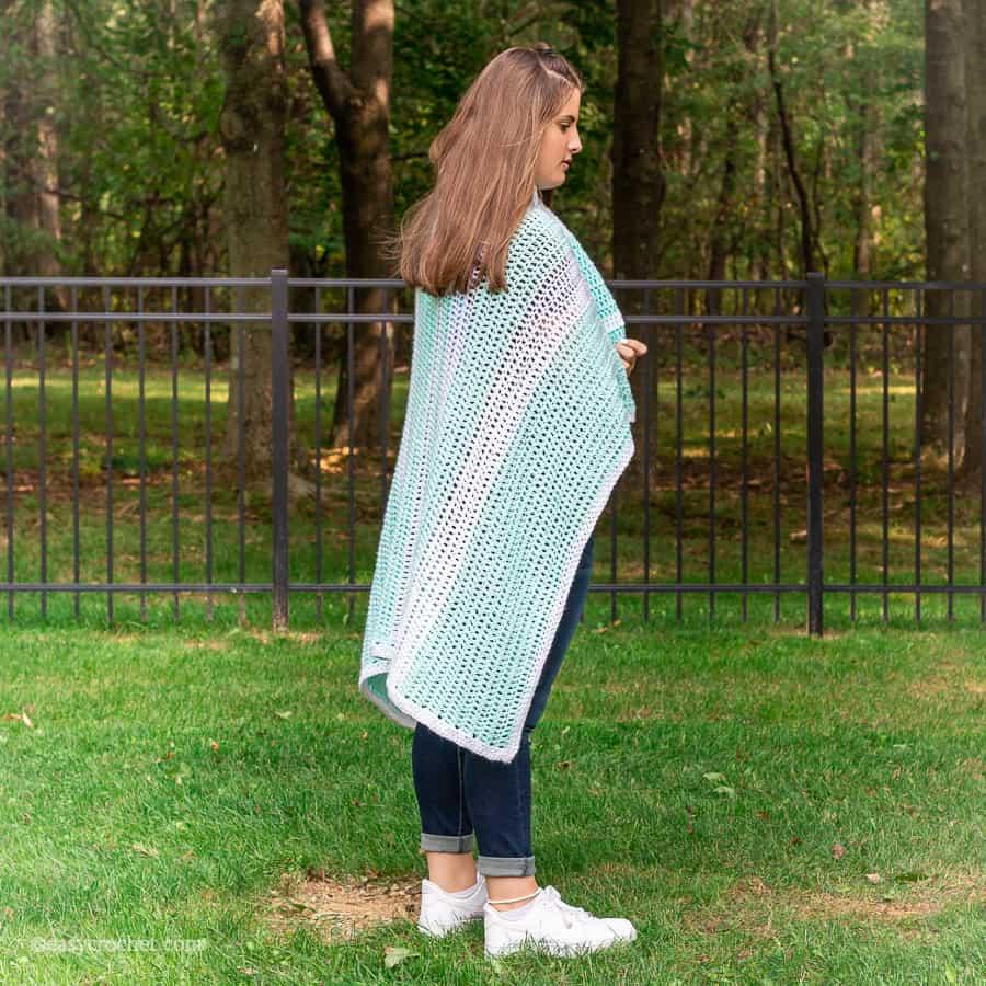 Double Crochet Stitch Blanket Pattern
