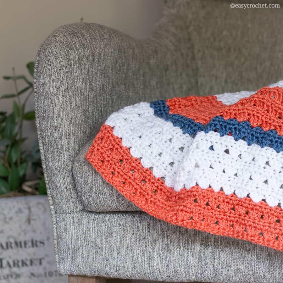 Cute crochet baby blanket pattern