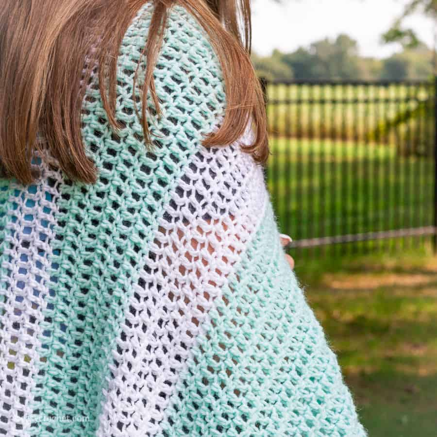 How to double crochet a blanket tutorial