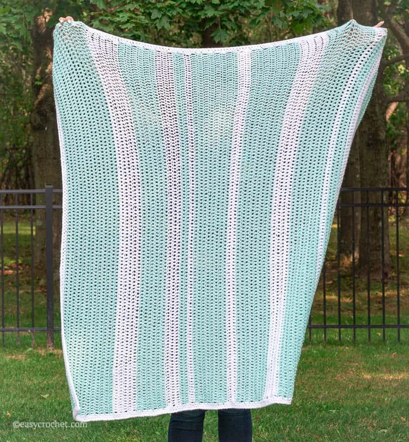 Simple Double Crochet Blanket Pattern