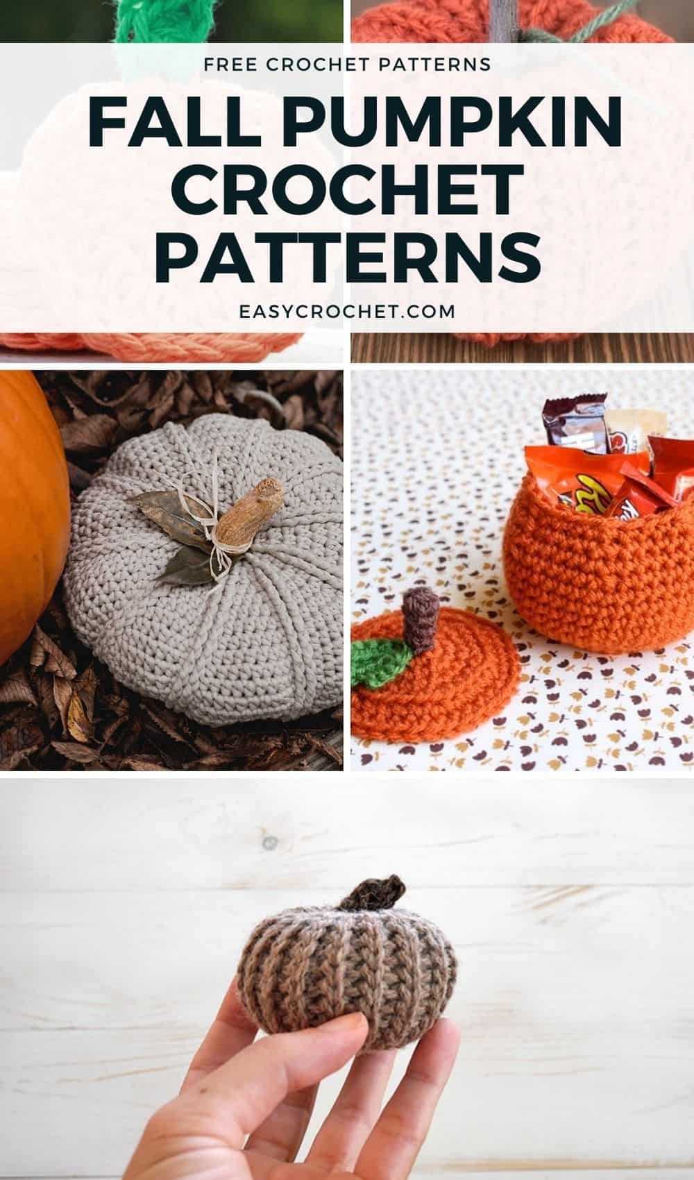 Free Fall Crochet Pumpkin Patterns that you can make this Fall! via @easycrochetcom