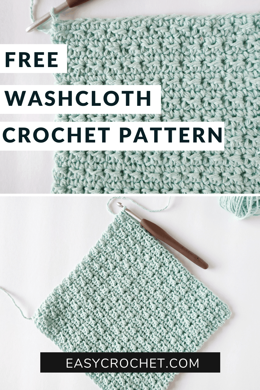 easy crochet washcloth pattern for beginners