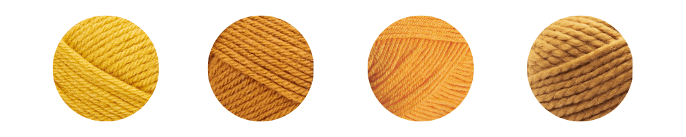 yellow yarn colors for Fall