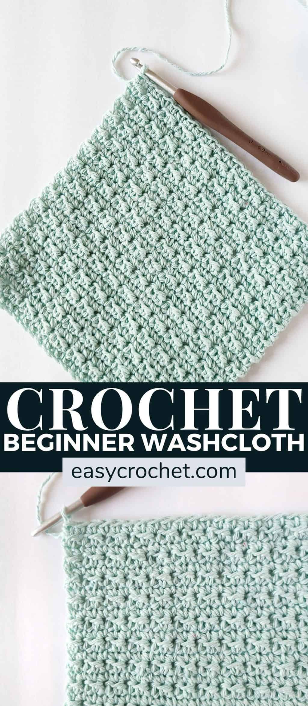 Use this free pattern to make an easy crochet washcloth! Makes a great gift and works up quickly! via @easycrochetcom