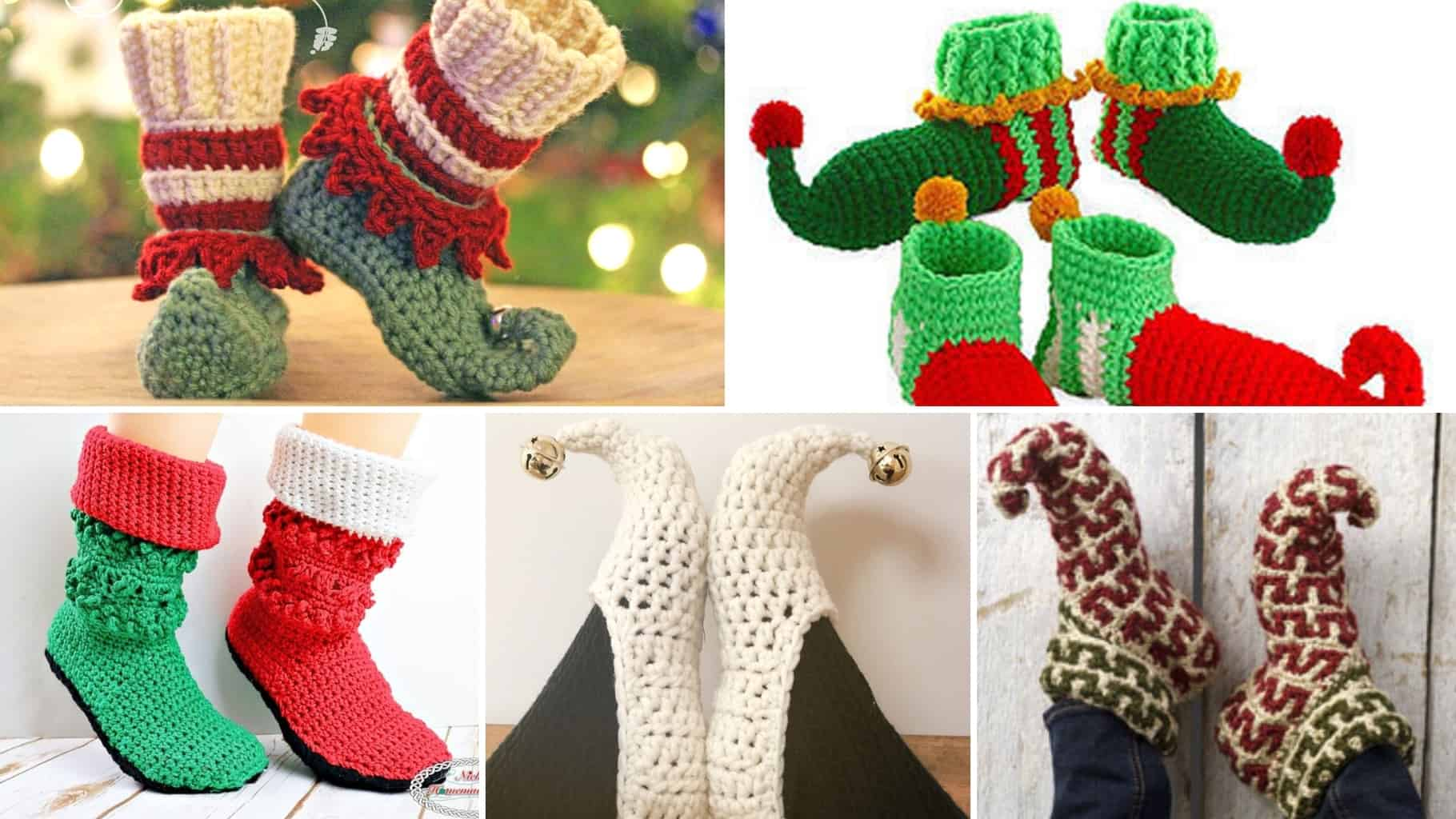 Crochet Elf Slipper Patterns Easycrochet Com
