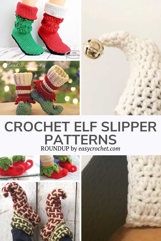Crochet Elf Slipper Crochet Patterns