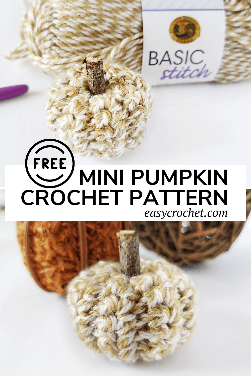 Crochet Mini Pumpkin Pattern