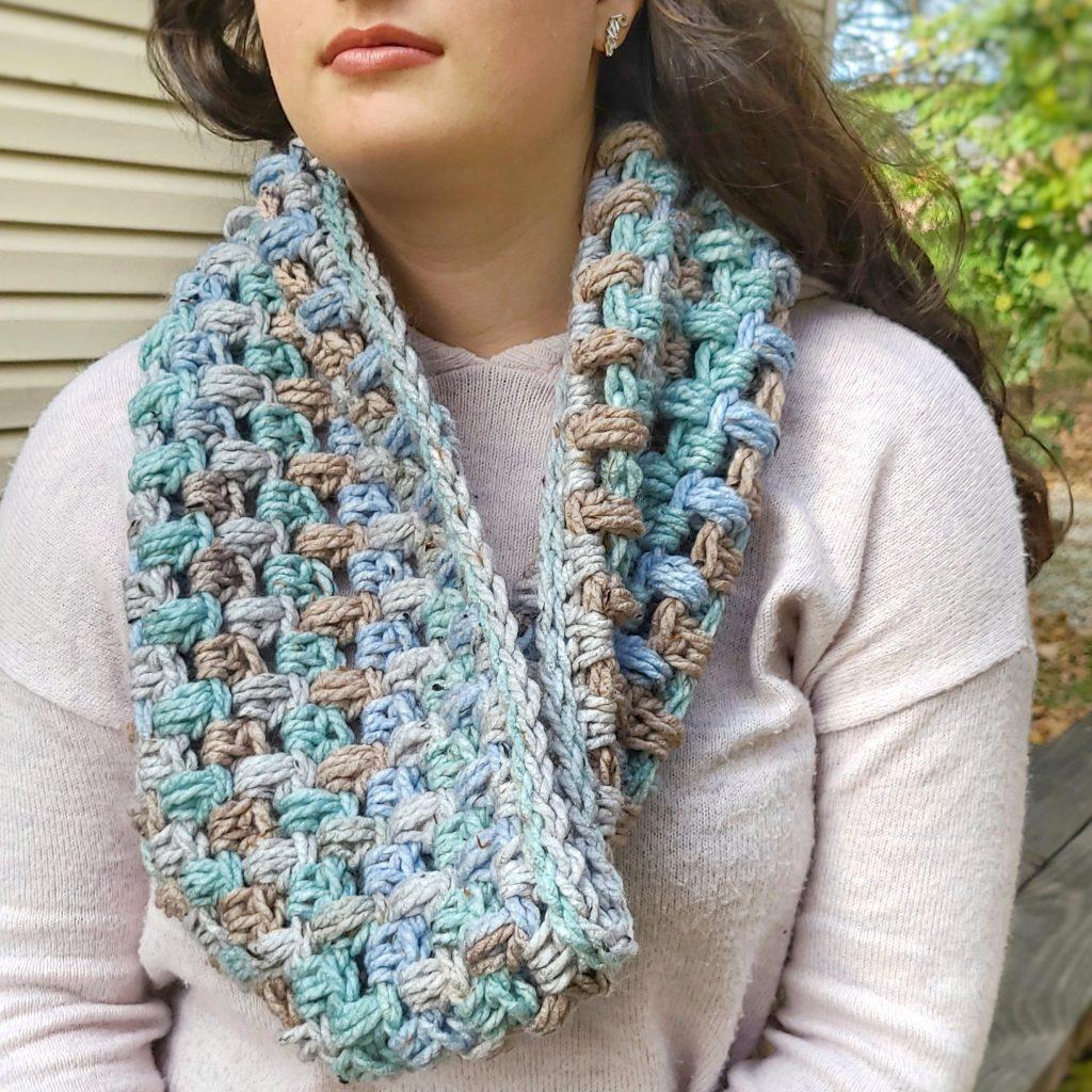 crochet puff cowl