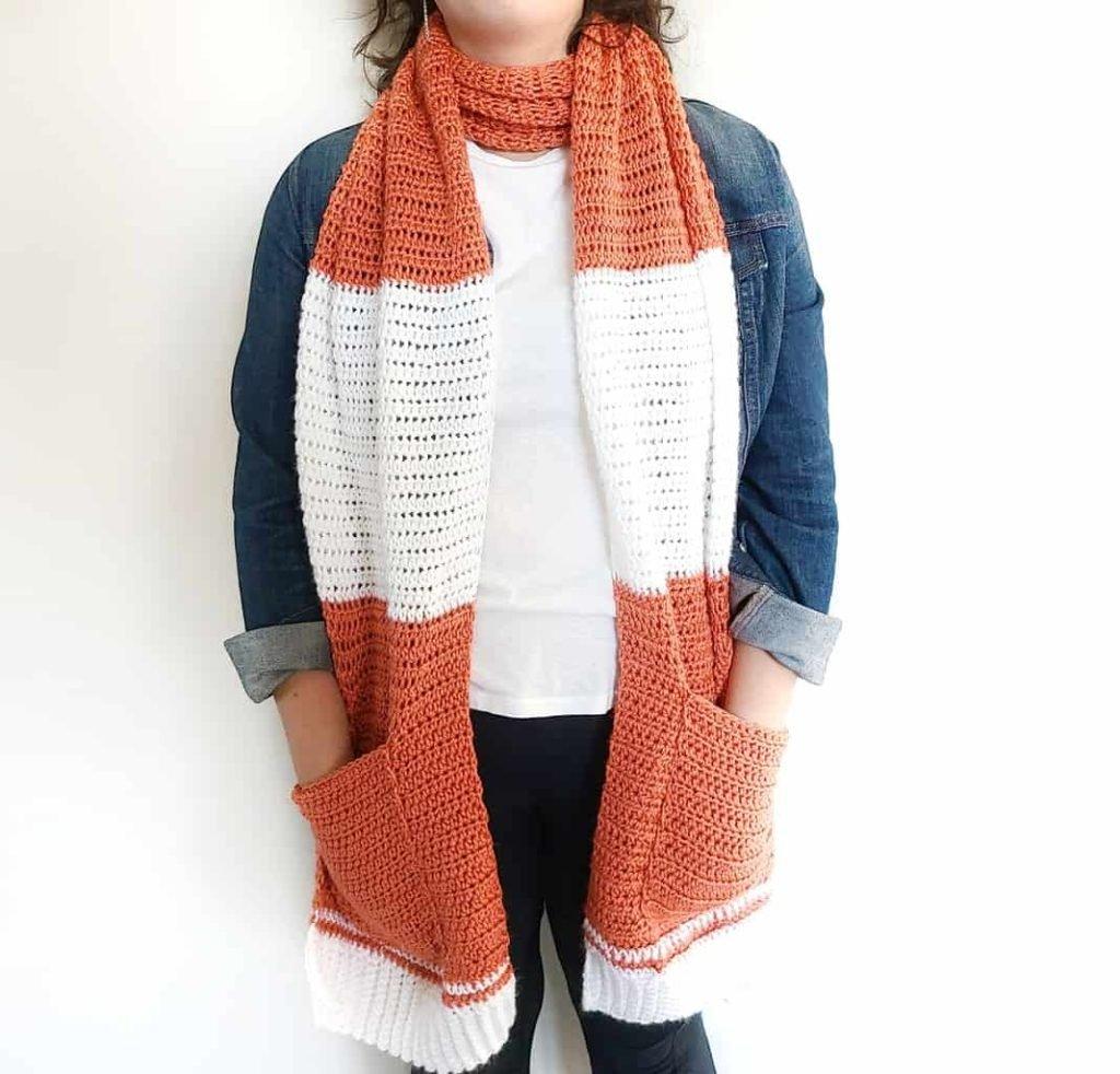 easy crochet pocket shawl free pattern