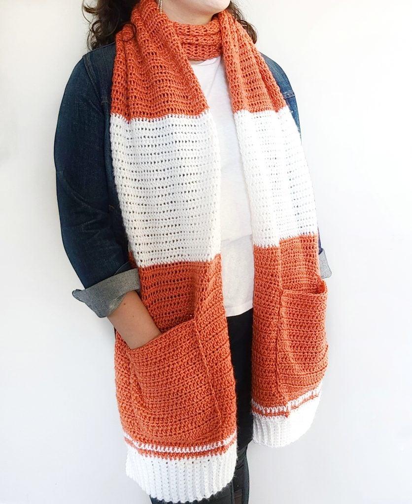 shawl with pockets free crochet pattern