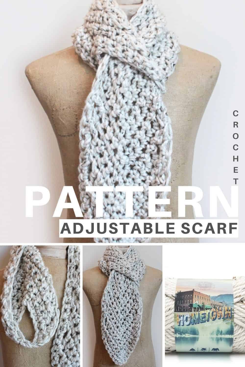 Adjustable scarf crochet pattern
