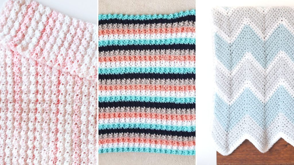 11 Adorablely Cute Easy Baby Blanket Free Crochet Patterns Easycrochet Com