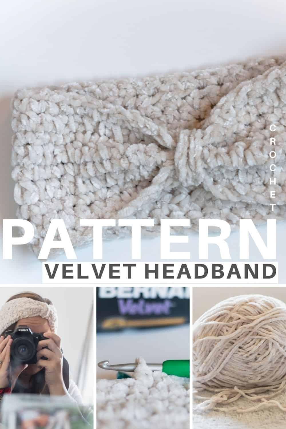 Velvet Headband Crochet pattern