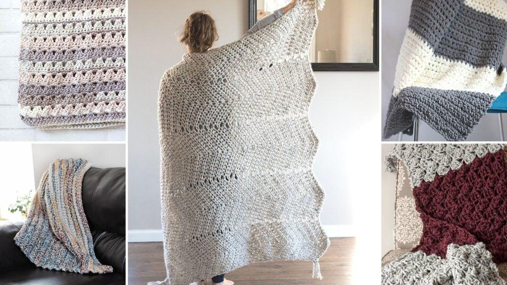 Free Crochet Blanket Patterns For Bulky Yarn Easycrochet Com