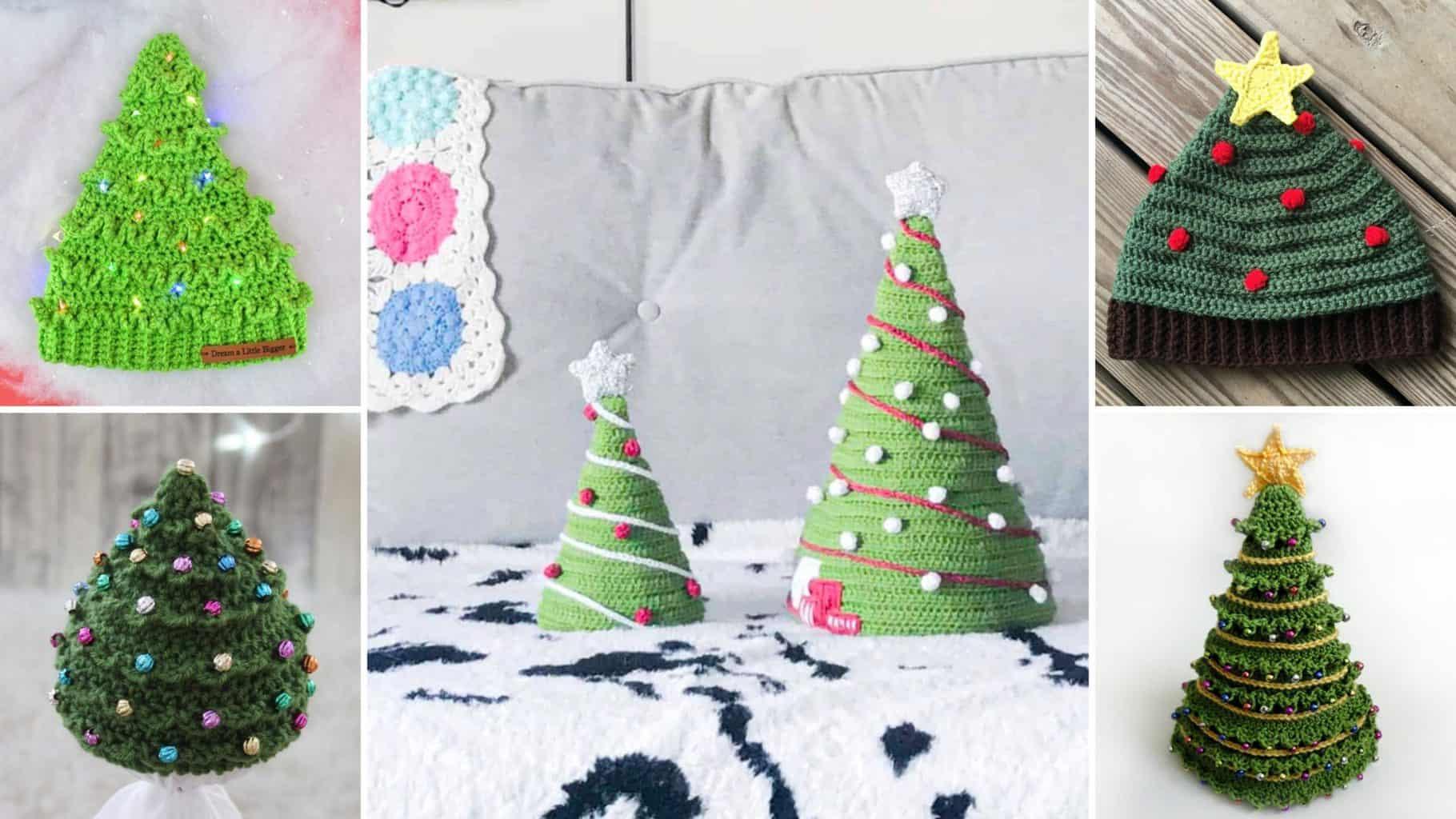 Christmas Tree Hat Crochet Patterns Easycrochet Com