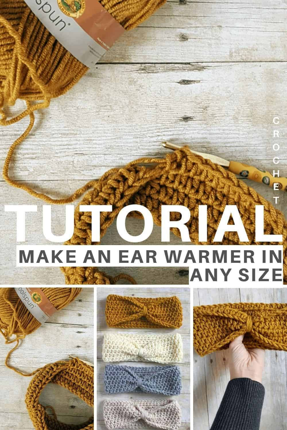 How to crochet an earwarmere in any size